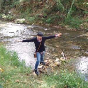 Rosa en río Palancia en Segorbe Cabañas Caudiel